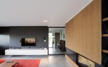Gepolierde betonvloer in woonkamer