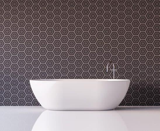 Tegelmotief voor badkamer