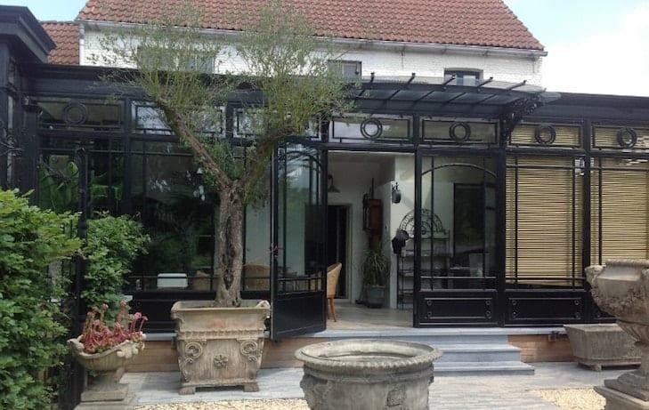 Veranda / Orangerie in smeedijzer